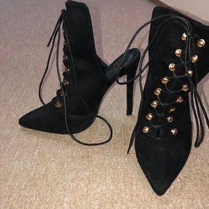 Misguided Lace Up Heels